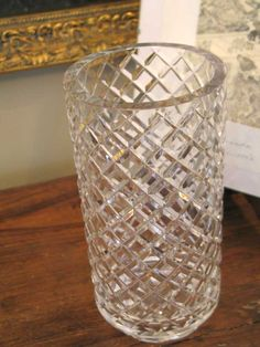 Waterford Crystal Old Patterns Vintage Waterford Cut Glass Crystal Vase Starburst Pattern