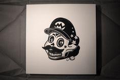 mario - Illustrator Jonathan Koshi has turned the heads of pop-culture icons into calaveras
