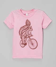 $14. Pink Squirrel Bike Tee - Toddler & Kids #zulily #zulilyfinds