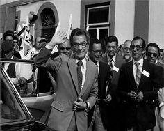 Visita de Francisco Sá Carneiro em 1980 a Rio Maior   Portugal