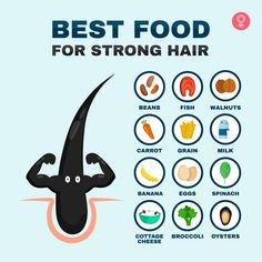 Best food for strong hair. Good Health Tips, Health And Beauty Tips, Natural Hair Care Tips, Skin Care Tips, Home Beauty Tips, Beauty Hacks, Diy Beauty, Healthy Skin Care, Healthy Hair