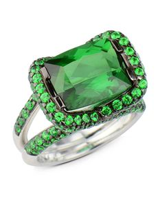 19482a4cd7dc0 226 Best Green Tourmaline/Emerald emerald cut Ring images in 2019 ...