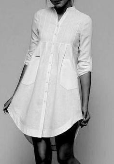 Patterns for individual sizes - Lingerie Linen Dresses, Cotton Dresses, Casual Dresses, Casual Outfits, Hijab Fashion, Fashion Dresses, Cooler Look, Shirt Refashion, Indian Designer Wear