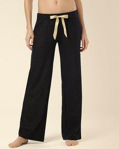 Soma Intimates Embraceable Pajama Pant Little Dot Gold Foil #somaintimates #mysomawishlist