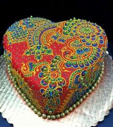 Heart-Shaped Edible Jewel Cake By Creme Delicious - http://www.creme-delicious.com/ - (cakewrecks)