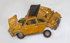 FIAT 500S CRUSHED INTO 2D ART | iGNANT.de