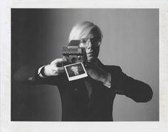 "Andy Warhol with Camera"" - 1974, Polaroid Type 105"
