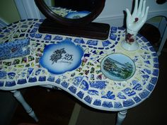 Mosaic make up table in honor of 25 Years of marriage