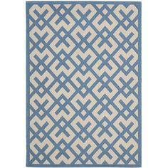 """Mercury Row Andersen Beige/Blue Indoor/Outdoor Rug Rug Size: 8' x 11'2"""""""