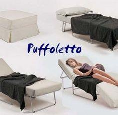Poltrona letto Cubed trasformabile letto singolo design moderno ...