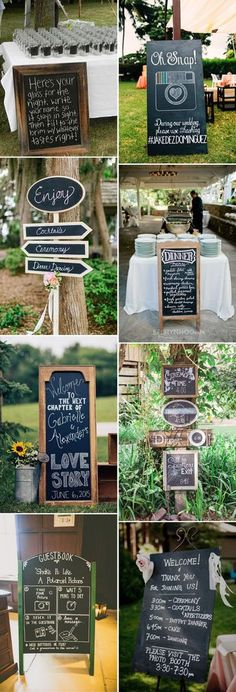 chalkboard wedding signs ideas to provide convenience to wedding guests