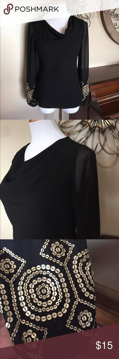 SL Fashions Size 8 Sheer Sleeve Dressy Top Excellent Condition! Size 8 - 100% Polyester SL Fashions Tops Blouses