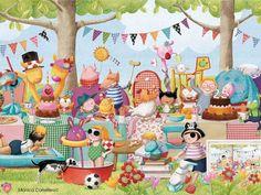 Summer Picnic by Monica Carretero (950×713) birthday party illustration -- here is one with better coloring but has text: https://www.google.com/url?sa=i&rct=j&q=&esrc=s&source=images&cd=&cad=rja&uact=8&ved=0ahUKEwij44byov_VAhXnzFQKHS3CA0gQjBwIBA&url=http%3A%2F%2F4.bp.blogspot.com%2F--PYFs2fTlsw%2FVdQzNixw6GI%2FAAAAAAAAItI%2F_yL67wvYjyk%2Fs1600%2Fcartel1.jpg&psig=AFQjCNEpOc9CA0oMEMTKEouejjmGOHFF1A&ust=1504193026351166