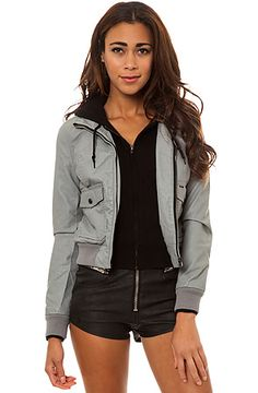 Obey Jacket Jealous Lover Jacket in Grey and Black $62.95