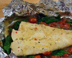 Easy foil baked fish with Limone Garlic Sauce   Citizen Chef