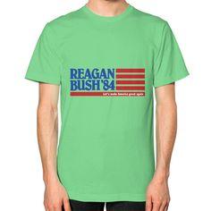 Reagan Bush '84 Flag Men's T-Shirt