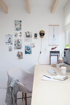 Ordinary attic to a fab work studio in Holland. Holly Marder, Avenue Lifestyle.