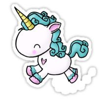 Prancing Unicorn Sticker