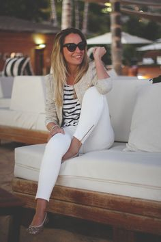 White skinnies with gold zipper detail