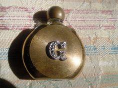 Sehr seltene Parfum Flakon Miniatur vergoldet mit einem G aus Markasiten | eBay