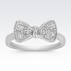 Diamond Bow Ring from Shane Co.