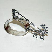 Antique Sterling Figural Reindeer Napkin Ring 1903