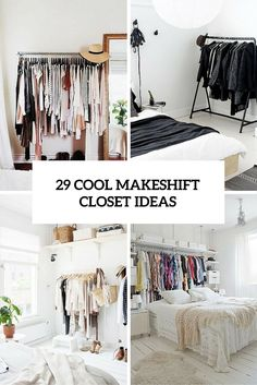 Charmant 29 Cool Makeshift Closet Ideas For Any Home (DigsDigs)