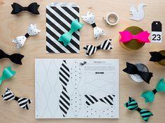 Askertele helpot ja näyttävät paperirusetit lahjan koristeeksi tai kattauksen somisteeksi | DIY paper bows free download