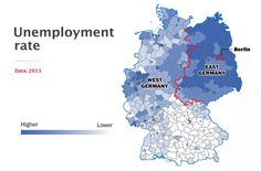 Germany divided - unemployment