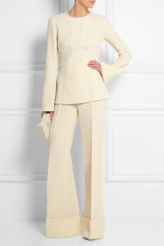 Stella McCartney|Dakota stretch wool-blend crepe flared pants|NET-A-PORTER.COM