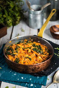 Vegansk stroganoff med rotsaker - Landleys Kök Clean Recipes, Raw Food Recipes, Veggie Recipes, Healthy Recipes, Vegan Vegetarian, Vegetarian Recipes, Veggie Delight, Food Crush, Recipes From Heaven