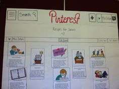 Pinterest bulletin board: Recipes for Success. A nice welcome back bulletin board that gives tips on how to stay on top of things in the 6th grade.