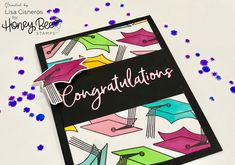 Congratulations Graduate card using Honey Bee Stamps Penny the Platypus stamp set & coordinating dies, congratulations die and copic markers.