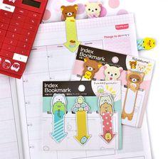 San-X Index Magnetic Bookmarks at CoolPencilCase.com #rilakkuma,#sumikkogurashi