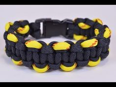 Make a Law Enforcement Police Style Paracord Bracelet - BoredParacord - YouTube