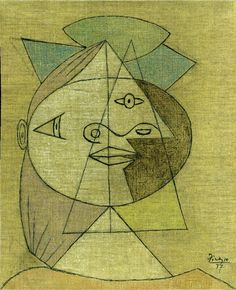 Pablo Picasso. Tête de femme (Marie-Therese Walter). 1937 year