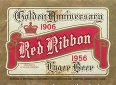 Golden Anniversary Red Ribbon Lager Beer by Thomas Fisher Rare Book Library, via Flickr