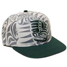Bear Snapback Hat by Paul Windsor, Haisla, Heiltsuk