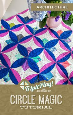 Discover Circle Magic in the latest Triple Play from Missouri Star Quilt Co! Using the new Circle Magic Template, Jenny, Natalie and Misty stitch up three unique new designs including the incredible Architecture quilt! Follow the link below to watch the quilting tutorial now! #MissouriStarQuiltCo #ArchitectureQuilt #CircleMagicQuilt #TriplePlay #CircleMagic #QuiltingTutorial #HowToQuilt #QuiltPattern #Sewing #Quilt #LayerCakeQuilt #FabricCrafts #CircleAesthetic Machine Quilting Tutorial, Quilting Tutorials, Star Quilts, Quilt Blocks, Magic Tutorial, Water Soluble Fabric, Layer Cake Quilts, Fabric Pen, Quilt As You Go