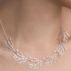 Filament Necklace - Nervous System: Sterling Silver or 24K Gold Plated. by christi