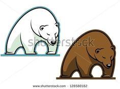 Buy Big kodiak bear by VectorTradition on GraphicRiver. Big kodiak bear in cartoon style for sports mascot. Editable (you can use any vector program) and JPEG (can edit. Bear Graphic, Brand Campaign, Bear Logo, Symbol Tattoos, Bear Cartoon, Wedding Labels, Logo Images, Cartoon Styles