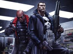 Punisher and Blade by Clayton Crain by Superman8193.deviantart.com on @deviantART