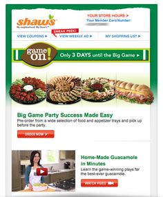 The Super Bowl is a marketing goal mine. Get inspired by the best Super Bowl email campaigns, subject lines, and free HTML email templates. Free Html Email Templates, Member Card, Email Marketing Campaign, My Shopping List, Super Bowl, Make It Simple, Appetizers, Food, Google