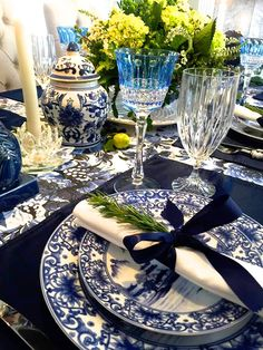 Beaux Mondes Designs: Giving Thanks In Blue & White