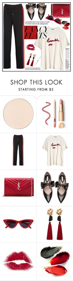 """on fancy flats"" by licethfashion on Polyvore featuring ittse, Kenzo, Yves Saint Laurent, MANGO, Rituel de Fille, KATKIM and chicflats"