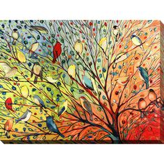Bird Canvas Print featuring the painting 27 Birds by Jennifer Lommers Bird Canvas, Canvas Wall Art, Canvas Prints, Framed Prints, Canvas Size, Painted Canvas, Bird Prints, Framed Art, Hand Painted
