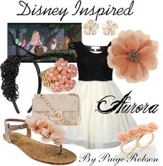 """""""Disney Inspired: Aurora"""" by paige-robson ❤ liked on Polyvore"""