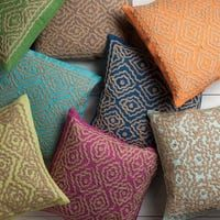 Surya Beth Lacefield: Lynch Decorative Geometric Throw Pillow (Orange - Down), Size 18 x 18 Geometric Throws, Geometric Pillow, Pillos, Global Decor, How To Clean Pillows, Geometric Embroidery, Pillow Arrangement, Pillow Design, Decorative Accessories
