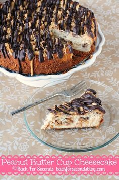 Peanut Butter Cup Cheesecake - I only used 2/3 cup of sugar and did not put any peanut butter cups in the cheesecake (just on top) and it was still SO RICH! It only takes a small piece to fill you up :) I also used Oreos instead of NutterButters.