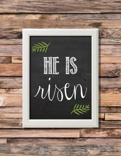 Items similar to He Is Risen Easter Chalkboard Printable Art… – Wall Products Chalkboard Writing, Chalkboard Printable, Chalkboard Drawings, Chalkboard Lettering, Chalkboard Designs, Printable Art, Chalkboard Ideas, Kitchen Chalkboard, Chalk Wall
